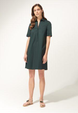 Daniel Hechter 14500 711015 590 sieviešu kleita tumši zaļā krāsā