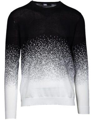 Karl Lagerfeld 655027 511301 10 vīriešu džemperis melnbalts