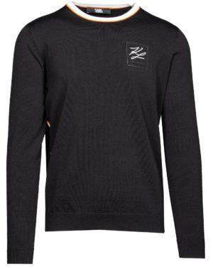 Karl Lagerfeld 655033 511304 170 vīriešu džemperis melns