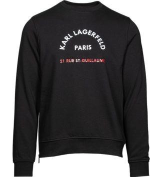 Karl Lagerfeld 705070 511900 990 vīriešu džemperis melns