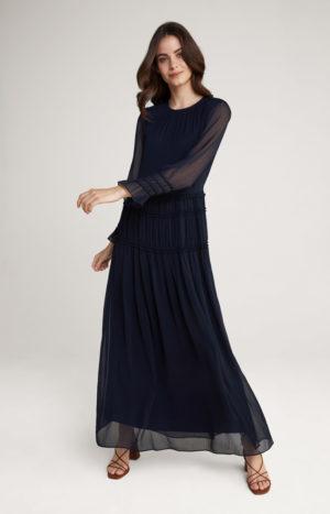 Joop! 30026458 405 sieviešu maxi kleita tumši zila