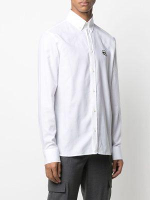 Karl Lagerfeld 605911 511600 10 vīriešu krekls baltā krāsā