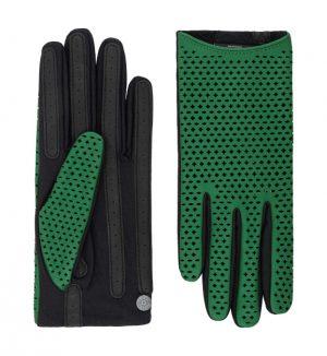 Roeckl 13012-378 818 sieviešu ādas cimdi zaļi