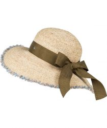 Roeckl 61032-081 157 sieviešu salmu cepure bēšā krāsā