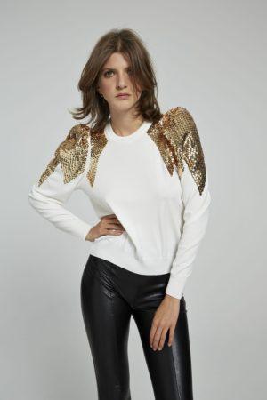 Aniye by 185502 1 sieviešu džemperis balts