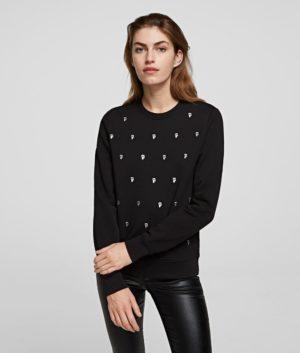 Karl Lagerfeld 210W1807 sieviešu džemperis melns