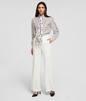Karl Lagerfeld 211W1003 sieviešu bikses baltas