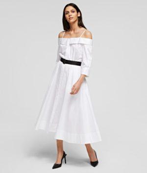 Karl Lagerfeld 211W1303 sieviešu kleita balta