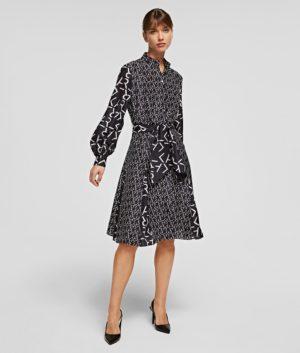 Karl Lagerfeld 211W1305 sieviešu kleita melna