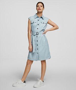 Karl Lagerfeld 211W1308 sieviešu kleita zila