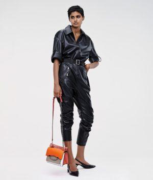 Karl Lagerfeld 211W1310 sieviešu kombinzons melns