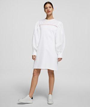 Karl Lagerfeld 211W1360 sieviešu kleita balta
