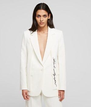Karl Lagerfeld 211W1405 sieviešu džemperis balts