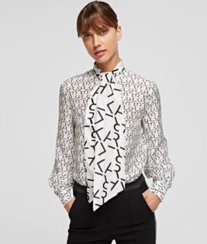 Karl Lagerfeld 211W1601 sieviešu krekls balts