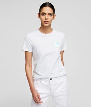 Karl Lagerfeld 211W1716 sieviešu t-krekls balts
