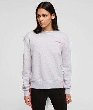 Karl Lagerfeld 211W1801 sieviešu džemperis gaiši pelēks