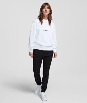 Karl Lagerfeld 211W1880 sieviešu džemperis balts