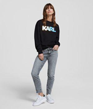 Karl Lagerfeld 211W1882 sieviešu džemperis melns