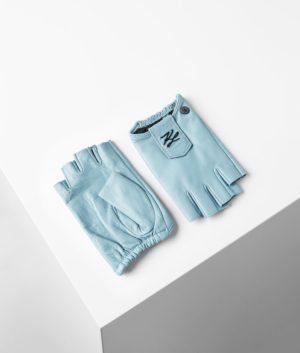 Karl Lagerfeld 211W3601 sieviešu cimdi zili