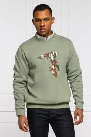 Trussardi 52F001891T005344G216 vīriešu džemperis zaļš