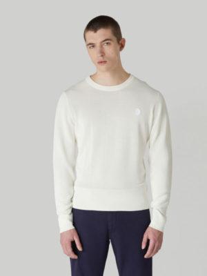 Trussardi 52M004350F000629W004 vīriešu džemperis balts