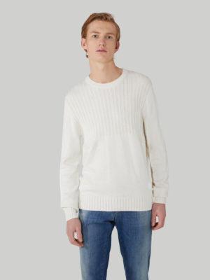 Trussardi 52M004380F000630W004 vīriešu džemperis balts