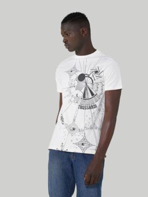 Trussardi 52T004481T005053W004 vīriešu t-krekls balts