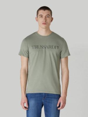 Trussardi 52T004981T003613G216 vīriešu t-krekls zaļš
