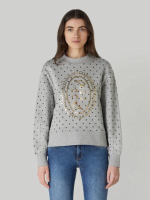 Trussardi 56F001311T005058E210 sieviešu džemperis pelēks