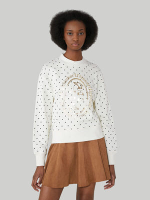 Trussardi 56F001311T005058W009 sieviešu džemperis balts