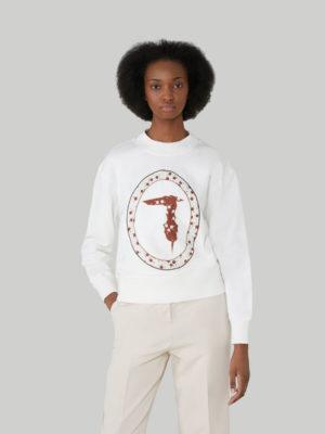 Trussardi 56F001451T005056W009 sieviešu džemperis balts