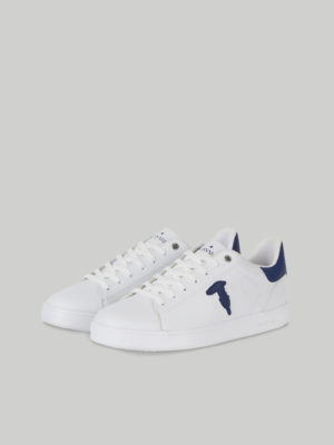 Trussardi 77A003609Y099998W708 vīriešu apavi balti ar ziliem elementiem
