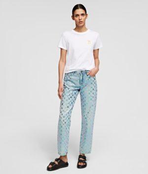 Karl lagerfeld 211W1102 sieviešu džinsi zili