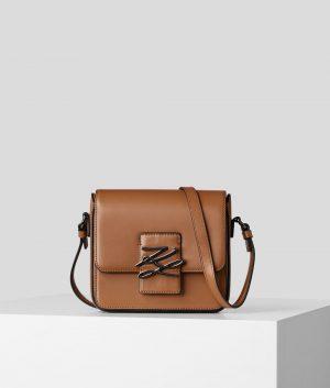 Karl Lagerfeld 205W3182 sieviešu pleca soma brūna