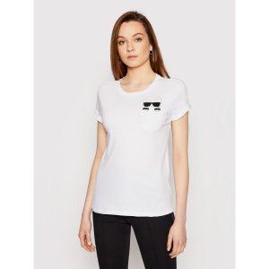 Karl Lagerfeld 210W1720 sieviešu T-krekls balts