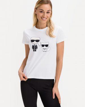 Karl Lagerfeld 210W1724 sieviešu T-krekls balts