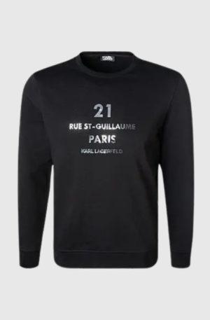Karl Lagerfeld 705016 511900 990 vīriešu džemperis melns