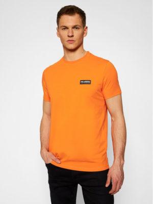 Karl Lagerfeld 755021 511221 170 vīrieši T-krekls oranžs