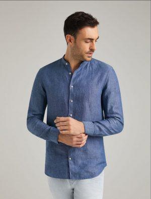 Baldessarini B3 10002.3030 6203 vīriešu lina krekls zils