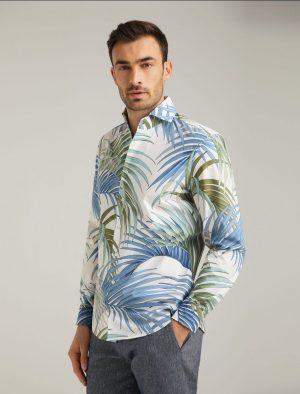 Baldessarini B3 30000.3020 6923 vīriešu kokvilnas krekls zils