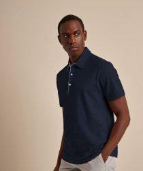 Baldessarini B4 10008.5044 6300 vīriešu polo T-krekls tumši zils