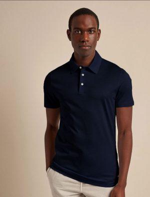 Baldessarini B4 10009.5047 6300 vīriešu polo T-krekls tumši zils