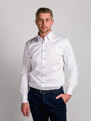 Fakts 1000-111 vīriešu krekls baltā krāsā