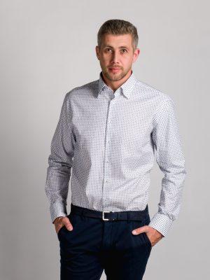 Fakts 1007-154 vīriešu krekls baltā krāsā