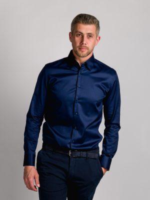Fakts 1010-291 vīriešu krekls tumši zilā krāsā