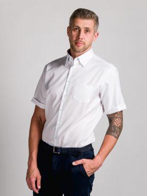 Fakts 1022-111 vīriešu krekls baltā krāsā