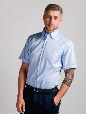 Fakts 1022-211 vīriešu krekls zilā krāsā