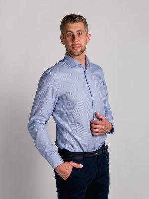 Fakts 1043-254 vīriešu krekls zilā krāsā