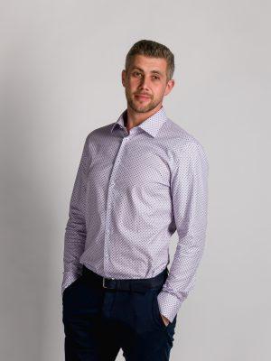 Fakts 1045-414 vīriešu krekls lillā krāsā