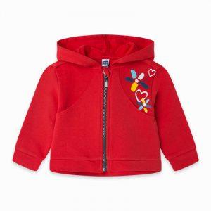 Tuc Tuc 11300104 meiteņu jaka sarkanā krāsā